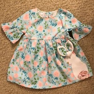 Mud Pie Easter Bunny Dress size 9-12 months